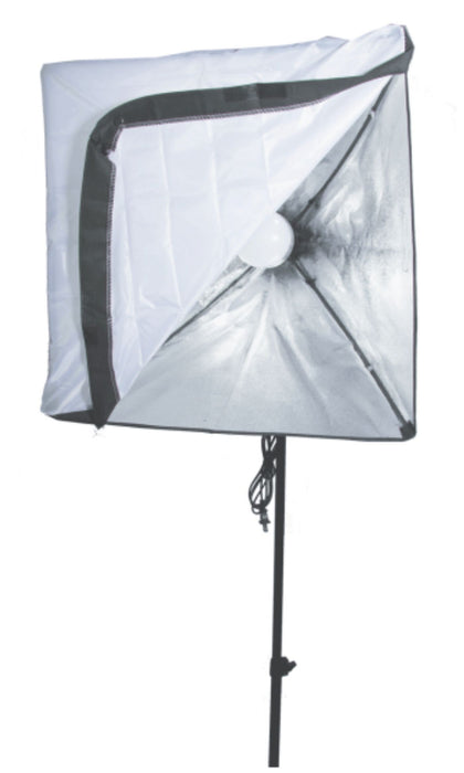 Zumm Photo 20 inch Square Softbox Kit W/1 LED, 6 ft Stand