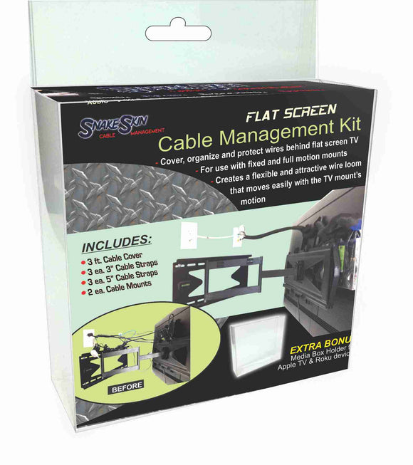 SNAKESKIN Flatscreen Cable Management Kit