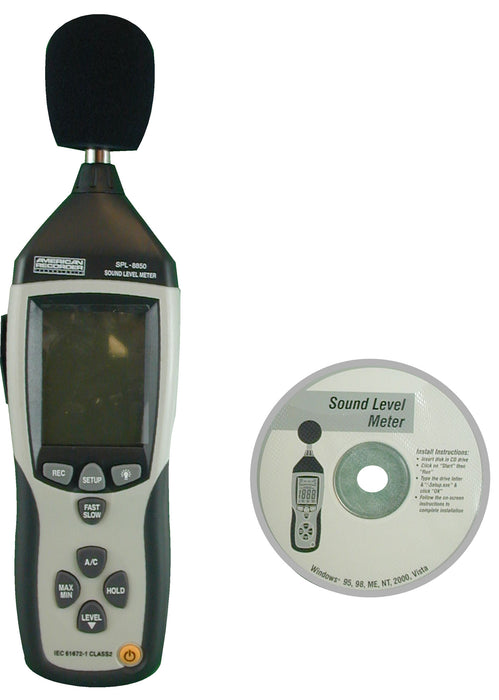 Deluxe Sound Level Meter with Data Logging Software - AMERICAN RECORDER TECHNOLOGIES, INC.