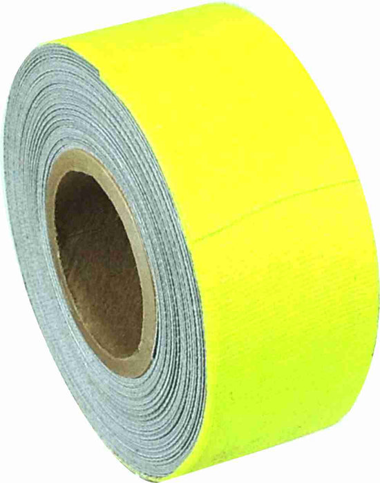 "1"" x 8 YARDS MINI ROLL GAFFERS TAPE - FLORESCENT YELLOW - Single Rolls"