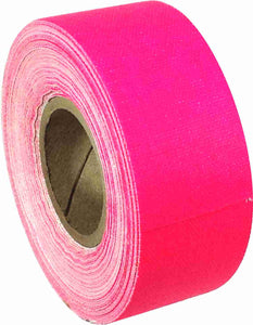 "1"" x 8 YARDS MINI ROLL GAFFERS TAPE - FLORESCENT PINK - Single Rolls"