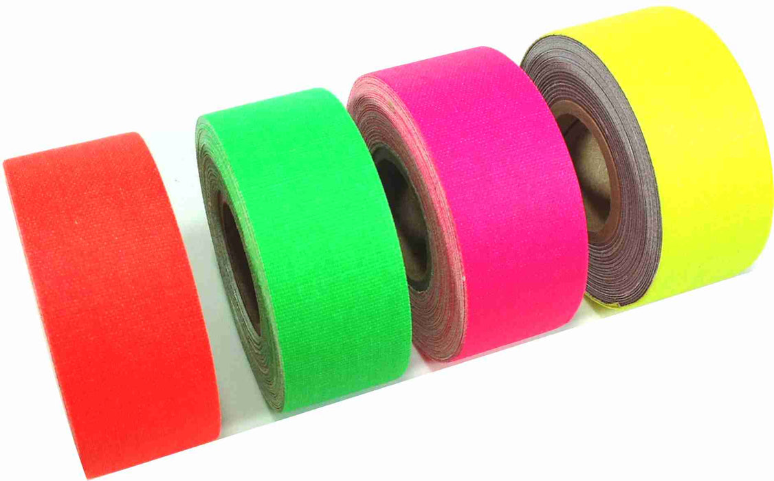 "1"" x 8 YARDS MINI ROLL GAFFERS TAPE -  ASSORTED COLORS - 4 Pack"