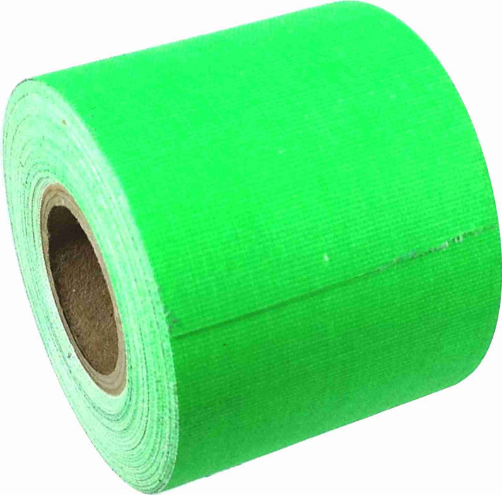 "2"" x 8 YARD MINI ROLL GAFFERS TAPE - FLORESCENT GREEN - Single Rolls"