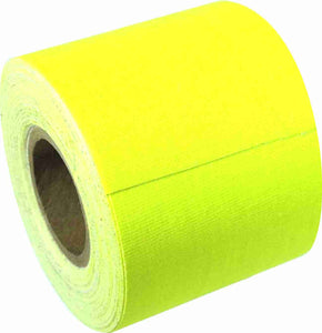 "2"" x 8 YARD MINI ROLL GAFFERS TAPE - FLORESCENT YELLOW - Single Rolls"