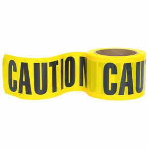 3 Inch Wide Caution Tape - 300 ft Roll