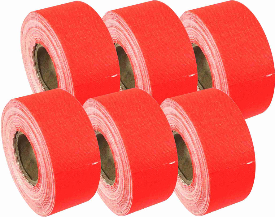 "AMERICAN RECORDER 1"" x 8 YARDS MINI ROLL GAFFERS TAPE - FLORESCENT ORANGE - 6 Pack"