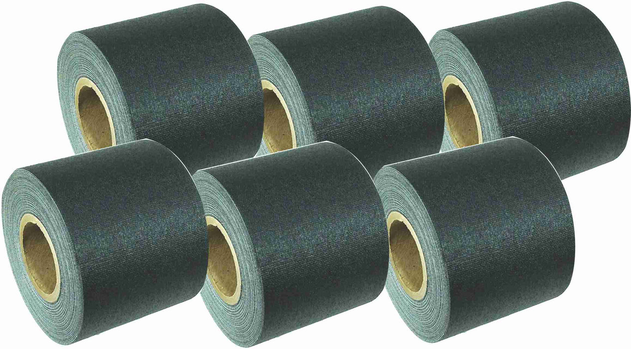 "2"" x 8 YARDS MINI ROLL GAFFERS TAPE - BLACK - 6 Packs"