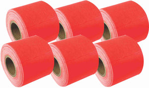 "2"" x 8 YARD MINI ROLL GAFFERS TAPE - FLORESCENT ORANGE - 6 Pack"