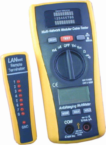 3 in 1 Digital Multimeter/LAN/Coaxial Tester - AMERICAN RECORDER TECHNOLOGIES, INC.