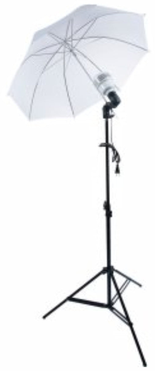 Zumm Photo 36 inch Umbrella Kit Kit W/ 1 LED, 6 ft Stand