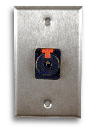 Single Gang Stainless Steel Wall Plates with Single TRS Plug - AMERICAN RECORDER TECHNOLOGIES, INC.