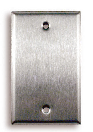 Single Gang Blank Stainless Steel Wall Plate - AMERICAN RECORDER TECHNOLOGIES, INC.