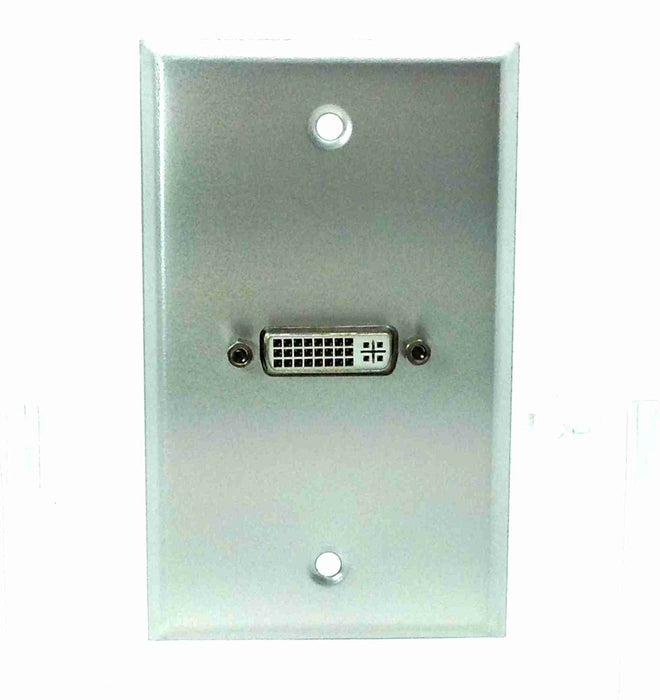 Single Gang DVI-D Aluminuml Wall Plate