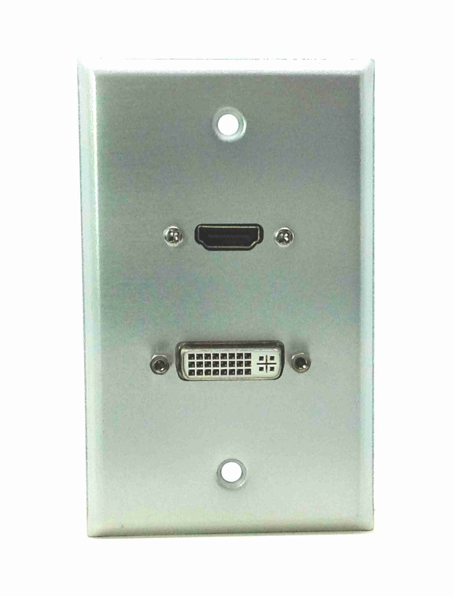 DVI-D Stainless Steel Wall Plate Single Gang HDMI