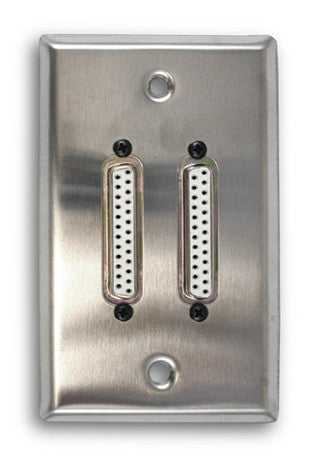 Single Gang Dual VGA Stainless Steel Wall Plate - AMERICAN RECORDER TECHNOLOGIES, INC.