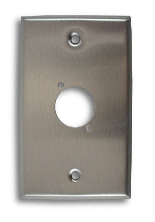 Single Gang, Single Position Stainless Steel Wall Plate - AMERICAN RECORDER TECHNOLOGIES, INC.