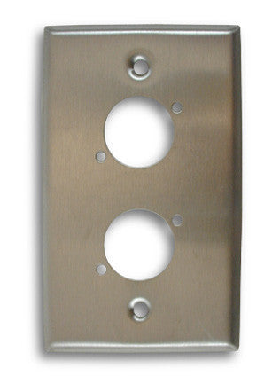 Single Gang Dual Position Stainless Steel Wall Plate