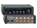 Stereo Audio Input Switcher with Headphone Amp - 4X1 - AMERICAN RECORDER TECHNOLOGIES, INC. - 1