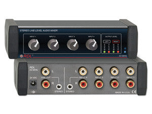 Stereo 4-Channel Line-Level Mixer - AMERICAN RECORDER TECHNOLOGIES, INC. - 1