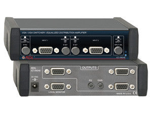 VGA/XGA Switcher/Equalized Distribution Amp - 2 Inputs, 4 Outputs - AMERICAN RECORDER TECHNOLOGIES, INC. - 1