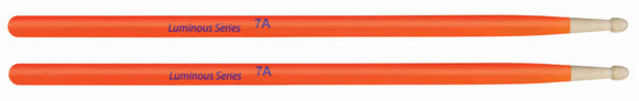 Luminous Orange Brazilian Maple Drumsticks - AMERICAN RECORDER TECHNOLOGIES, INC.
