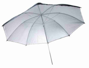 36in Black/Silver Umbrella