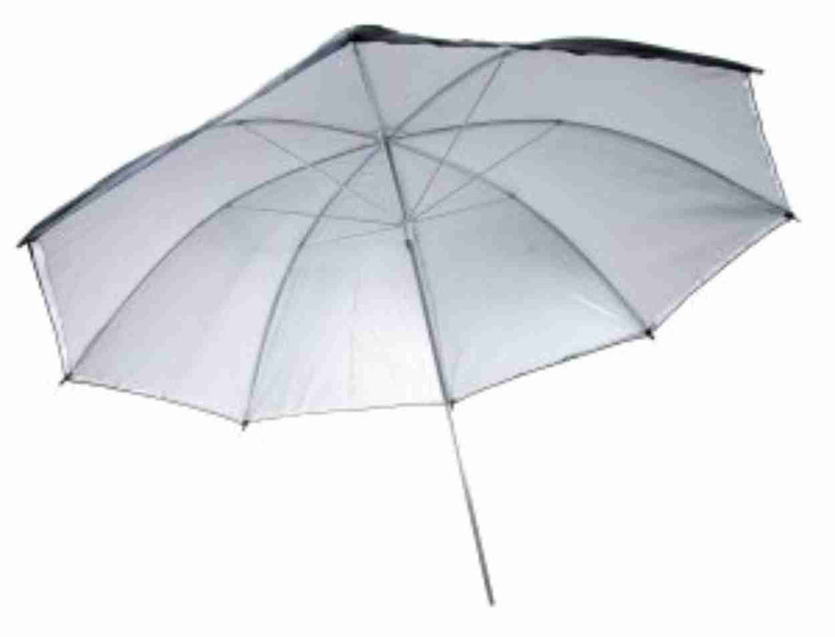 Zumm Photo 36in Black/Silver Umbrella