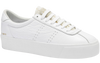 Superga 2854 Club 3 Comfleau - Ponyhair WHITE YELLOW GOLD