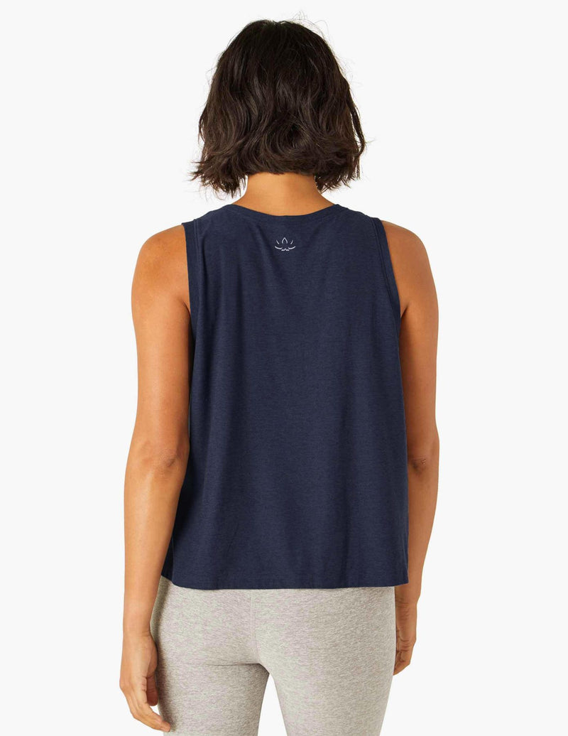 Beyond Yoga Balanced Muscle Tank- Nocturnal Navy