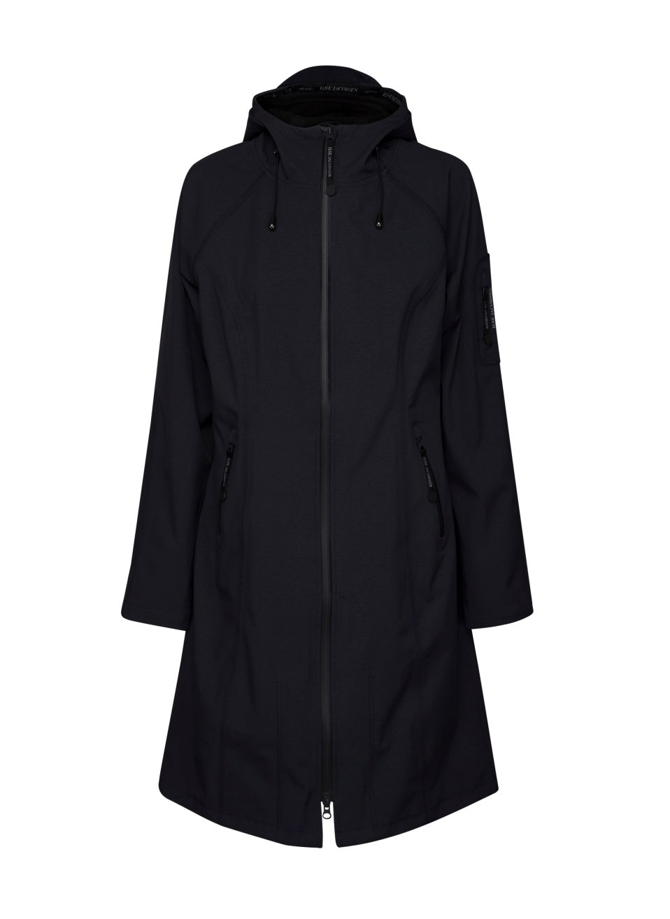 Ilse Jacobsen Rain 37 Long Lined Jacket - Black