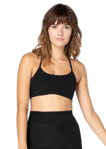 Beyond Yoga Space Dye Slim Racerback Crop - Darkest Night