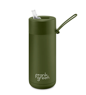 Frank Green Ceramic 595ml Reusable Bottle - Khaki