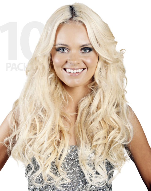 Hb Clip In Hair Extensions 10 Pack Hollywood Bombshell