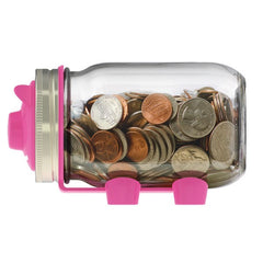 Jarware Pink Piggy Bank - Mason Jar Canning Accessory