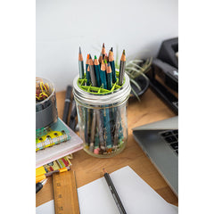 Jarware Flower Frog - Mason Jar Accessory - Desk with Pencils