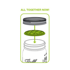 Jarware Flower Frog - Mason Jar Accessory - Illustration 2