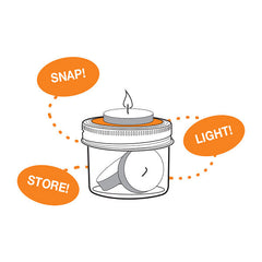 Jarware Tealight Holder - Mason Jar Accessory - Illustration 2