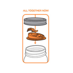 Jarware Drink Lid - Mason Jar Accessory - Illustration 2