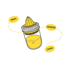 Jarware Juicer - Mason Jar Accessory - Illustration