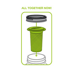 Jarware Tea Infuser - Mason Jar Accessory - Illustration