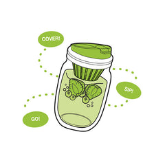 Jarware Fruit Infusion Lid - Mason Jar Accessory - Illustration
