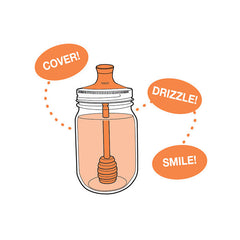 Jarware Honey Dipper - Mason Jar Accessory - Illustration