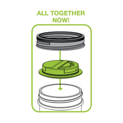 Jarware Spice Lid - Mason Jar Accessory - Illustration