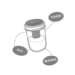 Jarware Salt & Pepper Shaker - Mason Jar Accessory - Illustration