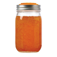 Jarware Orange Jelly/Jam Lid - Mason Jar Canning Accessory