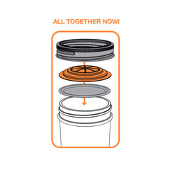Jarware Orange Jelly/Jam Lid - Mason Jar Canning Accessory - Illustration 2