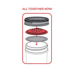 Jarware Strawberry Jelly/Jam Lid - Mason Jar Canning Accessory - Illustration 2