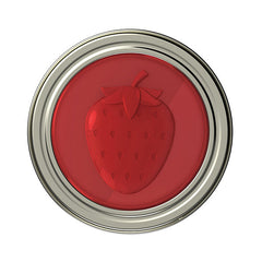 Jarware Strawberry Jelly/Jam Lid - Mason Jar Canning Accessory - Top View