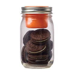 Jarware Regular Mouth Snack Pack - Mason Jar Canning Accessory - Oreos