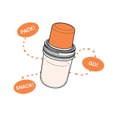 Jarware Regular Mouth Snack Pack - Mason Jar Canning Accessory - Illustration